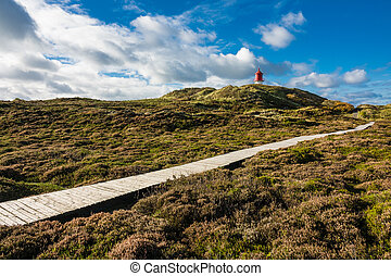 Lighthouse in Norddorf on the island Amrum, Germany