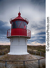 Lighthouse on the North Frisian Island Amrum in Germany