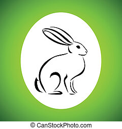 line drawing of the rabbit