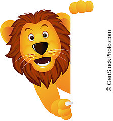 Lion and banner