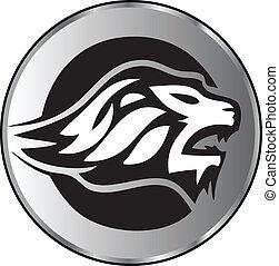 Lion face aggressive logo