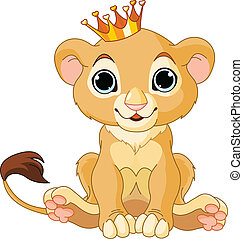 A cute character lion king cub
