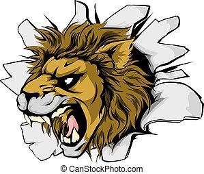 Lion sports mascot breakthrough