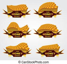 liquid honey jar vector art design