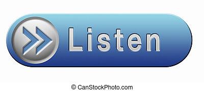 Listen live stream music audio or radio button