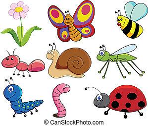 Vector illustration of little animals