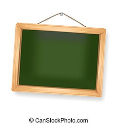 little blackboard hanging on white