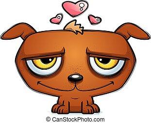 Little Cartoon Dog in Love