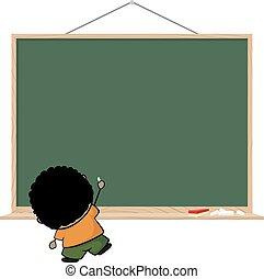little child blackboard