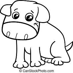 little dog cartoon coloring book
