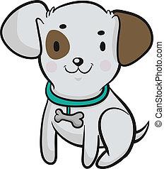 Vector illustration of a cute cartoon dog.