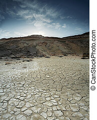 A loam desert located at Qeshm Island in the Persian Gulf