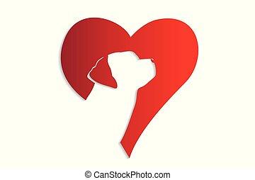 Logo dog heart