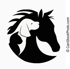 Logo of dog cat and horse