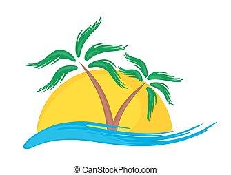 Logo of tropical island.