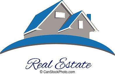 Logo Real estate blue house