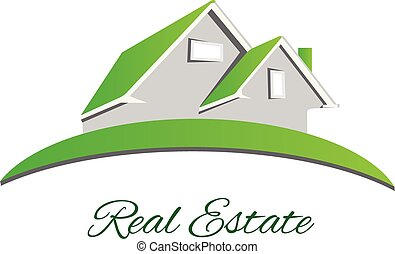Logo Real estate green house