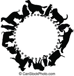 logo with dogs and cats