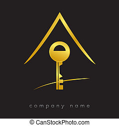 Key logotype for home, housing, sales, real estate