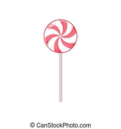 Lollipop. Vector illustration isolated on white background