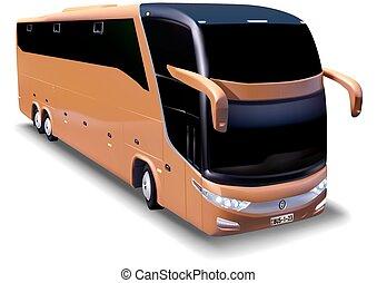 Long-distance bus - Detailed Illustration, Vector