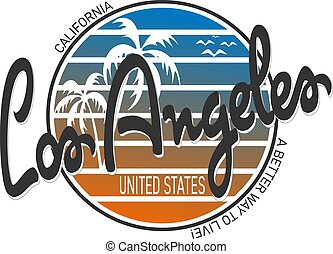 Los Angeles typography for t-shirt print , vector illustration. Wall design