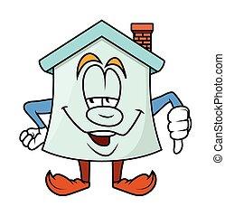 Lose - Cartoon Home Vector