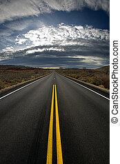 highway at dusk - vertical version