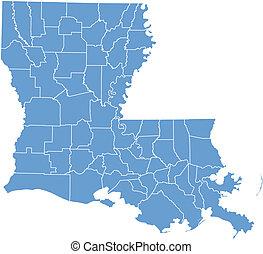 Lousiana state map
