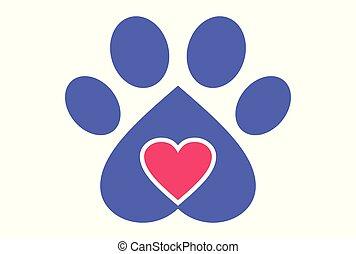 love dog logo vector