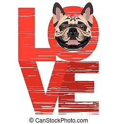Love French Bulldog