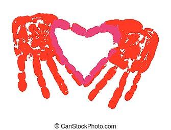 Love Hand Print