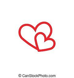 Love heart graphic design template vector