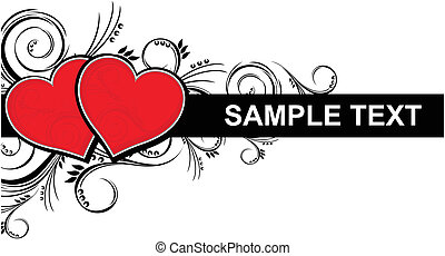 love hearts border