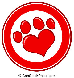 Love Paw Print Banner