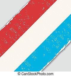 Luxembourg grunge flag. Vector illustration.