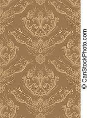 Luxury brown floral wallpaper