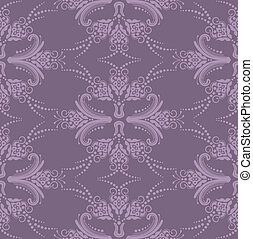 Luxury purple floral wallpaper