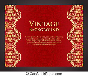 Luxury red background in vintage style