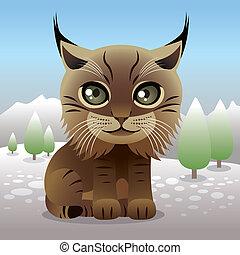 Illustration of a baby lynx, more animals in my portfolio.