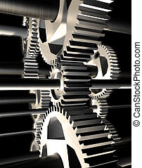 3d image of still life of machinery