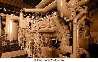 Compressor station / sepia.