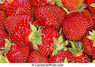 macro of a strawberry texture