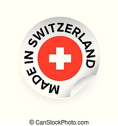Made in Switzerland label tag vector