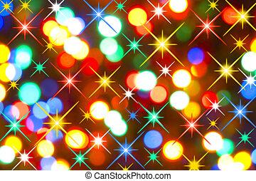 Magic Colorful Holiday Lights (Blurry Closeup)