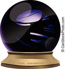 Full vector representation of a crystal ball