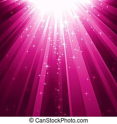 Magic stars descending on beams of light