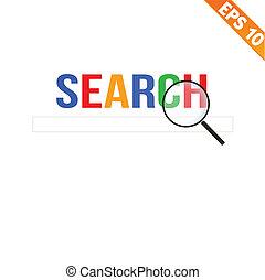 Magnifier Enlarges for search concept - Vector illustration - EPS10