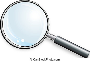 Magnifying glass. Color bright decorative background vector illustration.