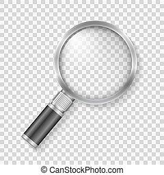 Transparent magnifying glass, vector eps10 illustration